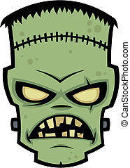 Frankenstein Monster - Cartoon illustration of Dr...