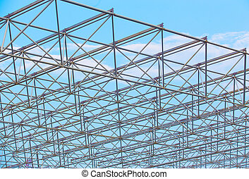 frame building construction from metal pipes