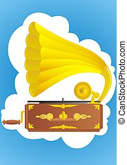 Gramophone - ramophone. Gramafonnyh old player records and...