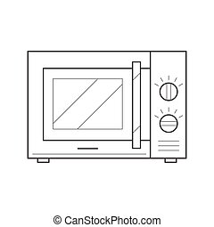 microwave oven icon - Microwave oven icon Thin line...