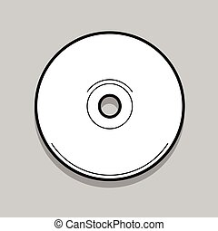 Compact disc vector illustration - White compact disc on a...