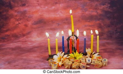Hanukkah Candles symbol, tradition - Hanukkah Candles Menora...