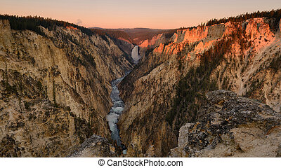 Grand canyon of Yellowstone National park Wyoming