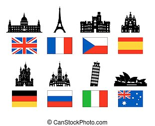 Korea Icon - Europe Travel Landmarks icon set. Vector and...