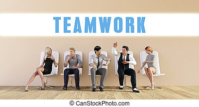 Business Teamwork Being Discussed in a Group Meeting