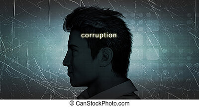 Man Experiencing Corruption