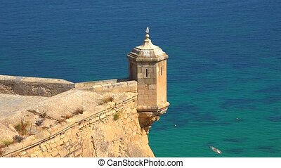 Castle Watchtower Near Ocean