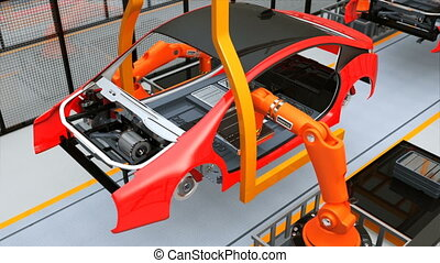 EV battery assembly line - Electric vehicles battery...