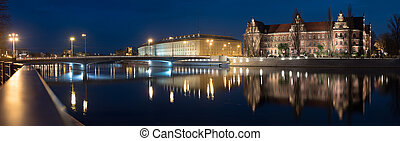 peace bridge over the odra river - Peace bridge over the...