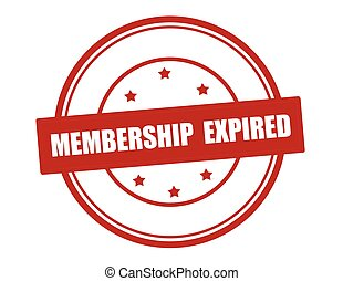 Membership expired - Rubber stamp with text membership...