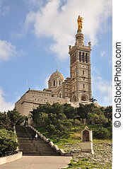 Notre Dame de la Garde, Marseille - Located in French second...