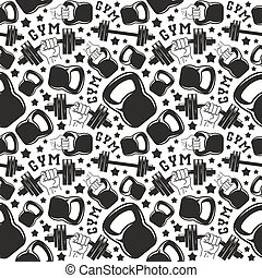 Seamless pattern gym club. Design for your textiles,...