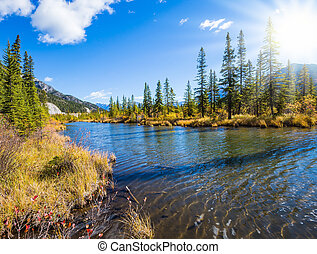 Concept of ecotourism. Beautiful Lake Vermilion in the...