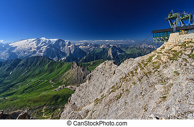 Dolomiti - view from Sass Pordoi