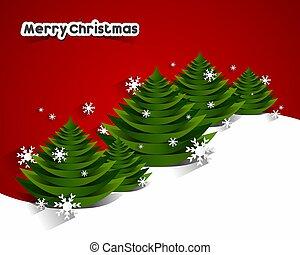 saludo, Ilustración,  vector, alegre, navidad, tarjeta