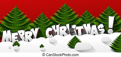 Merry Christmas Greeting Card vector illustration