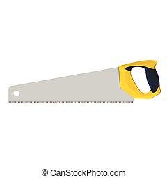 handsaw for wood, vector illustration - handsaw for wood,...