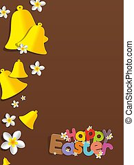Happy Easter Greeting Card vector illustration