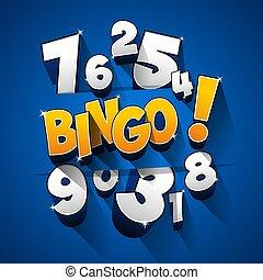 Creative Abstract Bingo Jackpot symbol vector illustration