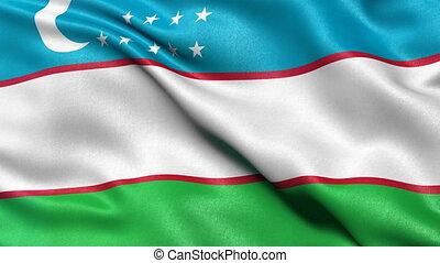 Uzbekistan flag seamless loop - Seamless loop of Uzbekistan...