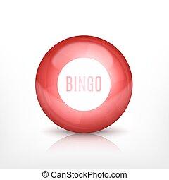 Lottery ball. EPS10 vector icon