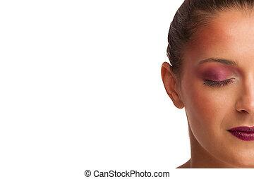 Beauty portrait of a beautiful brunette woman