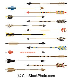 Set of arrow types for archer