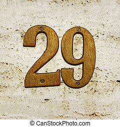 Number 29 - House number twenty nine (29)