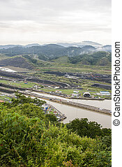 Panama Canal - Pedro Miguel Lock - View from top of the hill...