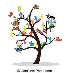 tree with the alphabet