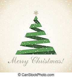 Christmas tree7 - Absrtact green Christmas tree. Vector...