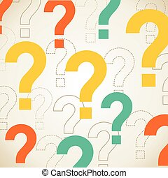 Question background - Abstract background question. Vector...