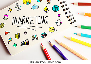 Marketing Business Concept - Marketing business concept on...