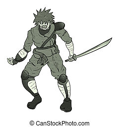 brave warrior - Creative design of brave warrior