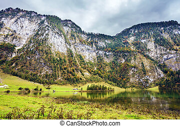 Pretty lake Konigssee - Berchtesgaden in Germany. Pretty...