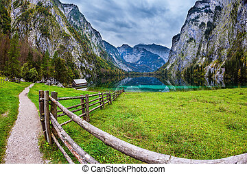 Magic blue lake Obersee - The concept of active tourism and...