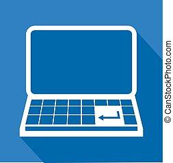 computer icon - Creative design of computer icon