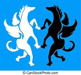 elegant pegasus symbol - Creative design of elegant pegasus...