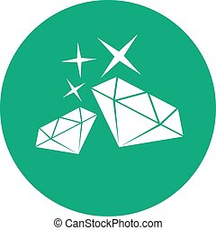 green elegant diamond symbol
