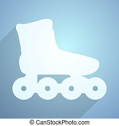 imaginative roller skate flat icon - Creative design of...