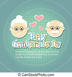 Grandfather With Grandmother Happy Grandparents Day Greeting Card Banner