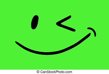 Joke smile green - Creative design of Joke smile green