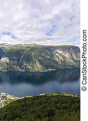 Stegastein view point - Sognefjord from Stegastein view...