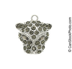 pendant leopard isolated on white