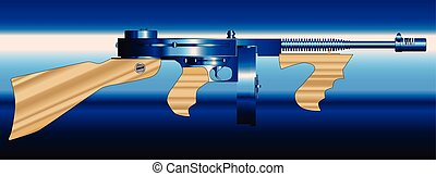 Gangsters Tommy Gun - A Tommy gun as used by gangsters in...