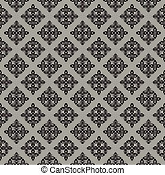 Vector textile damask seamless pattern.