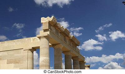 Lindos Acropolis.Rhodos.Greece - Lindos Acropolis on Rhodos...