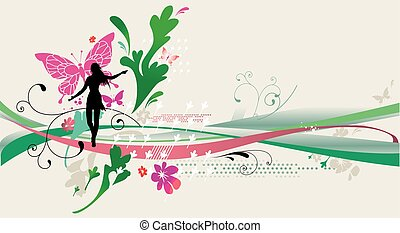 spring abstract design