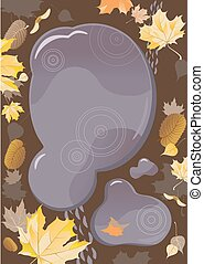 Autumn puddle, design with space for text