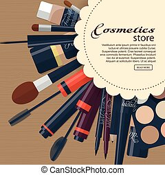 Large collection of womens cosmetics with space for your...